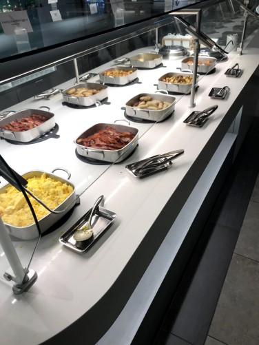 Flagship Lounge breakfast spread