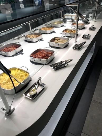 Flagship Lounge breakfast spread