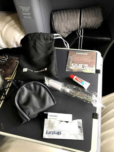 Contents of the Amenity Kit
