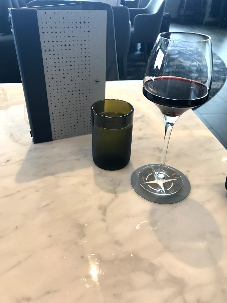 Glass of Red in the Dining Room