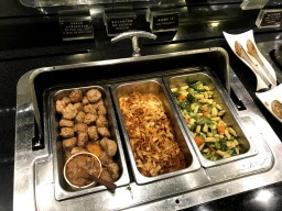 Main food options Infinity Lounge