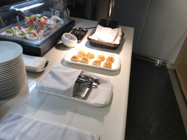 United Global First Lounge Food Spread