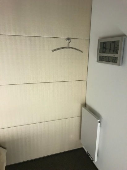 Lufthansa FCT Sleeping Room clock and hanger