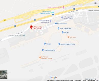 Map Image of Frankfurt Airport. Source: Google Maps